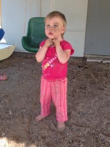 Annie's cooling dirt bath.