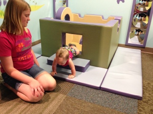 Lydia playing at a local children's museum in IL